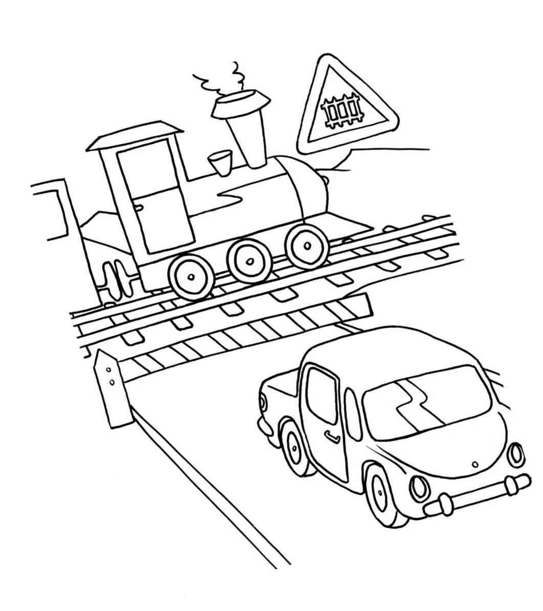 контуры картинок по правилам дорожного движения оформлении