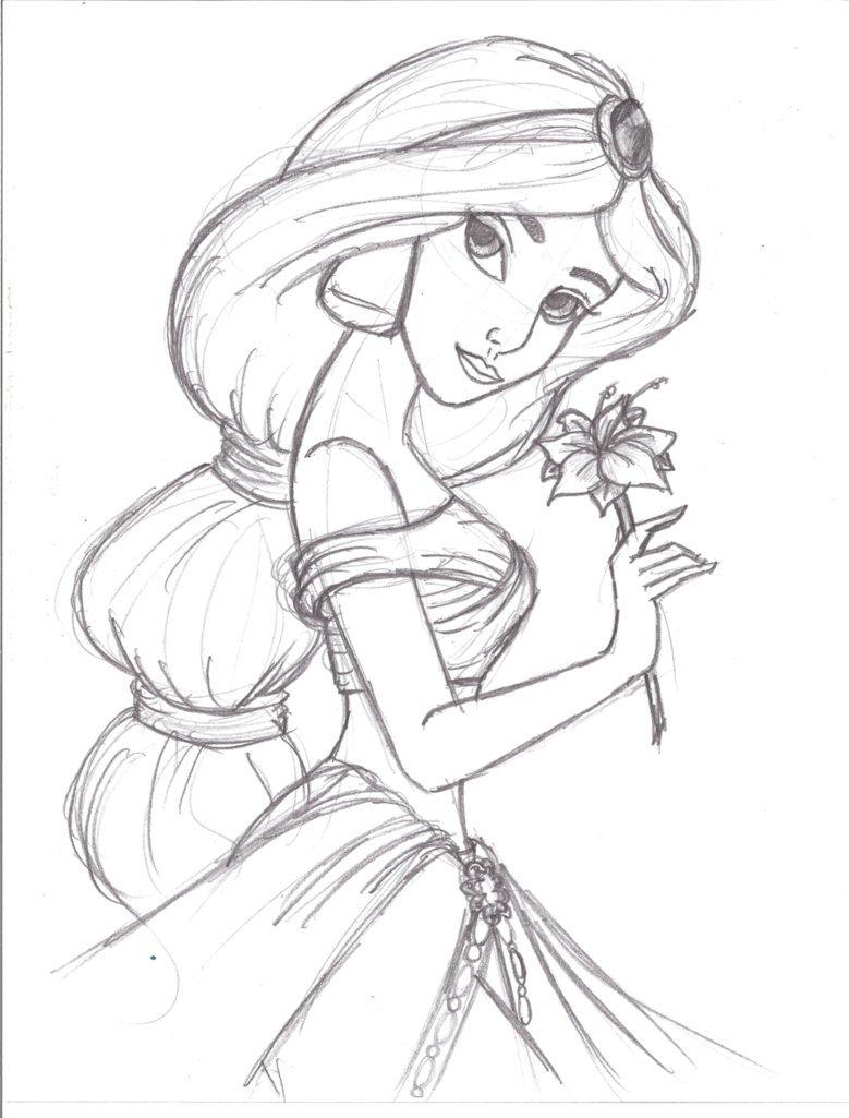Картинки карандашами принцессы