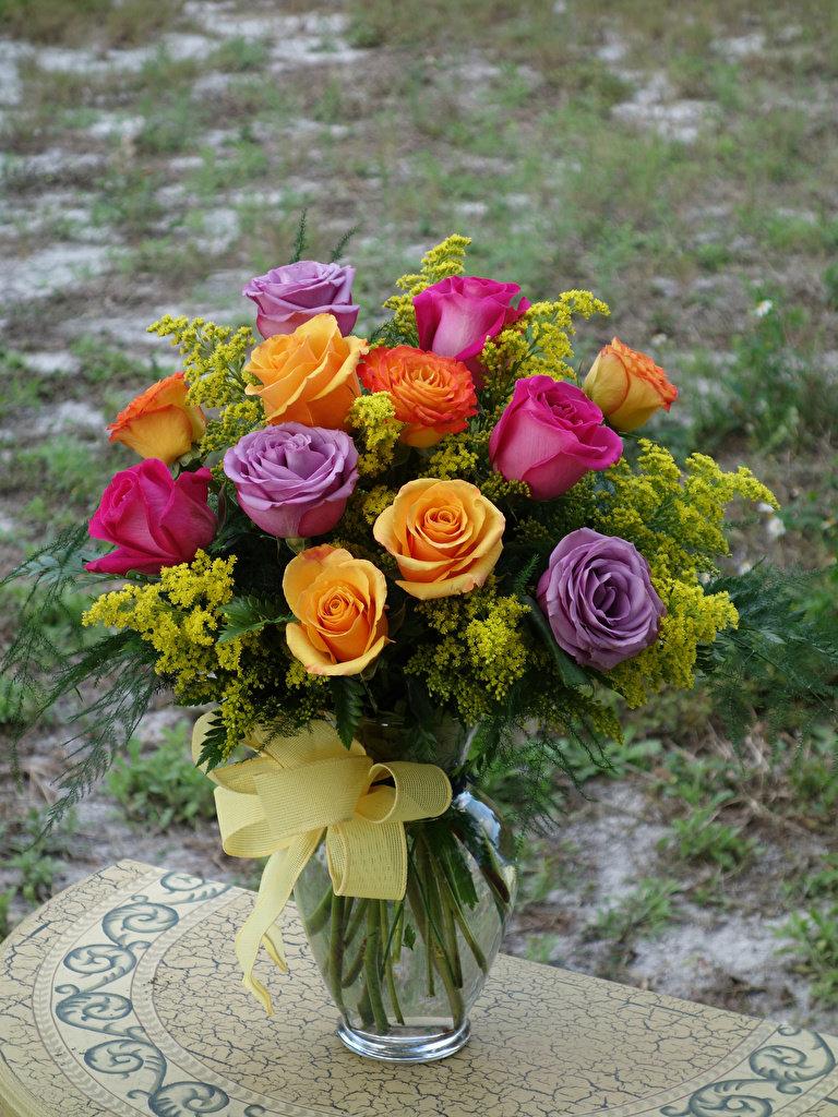 букеты из роз разного цвета фото результате получается
