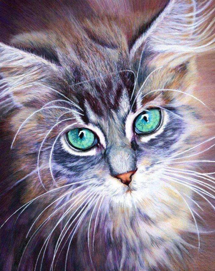 Под вкладыш, картинки красивые с котятами кошками нарисованные