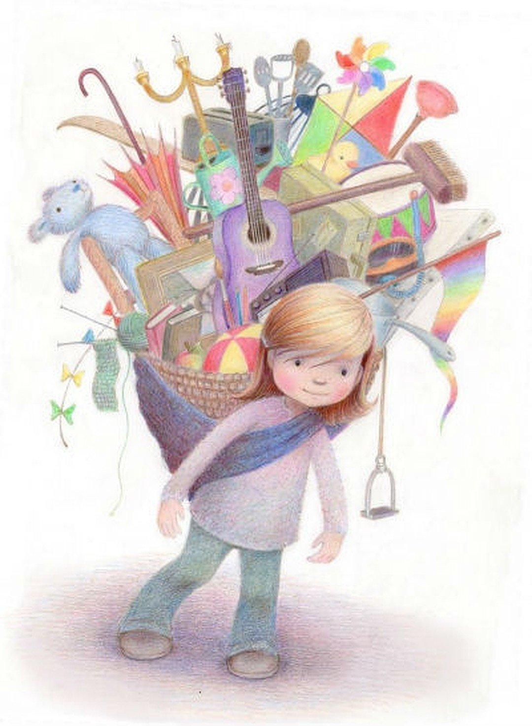 Открытки, юный художник открытка