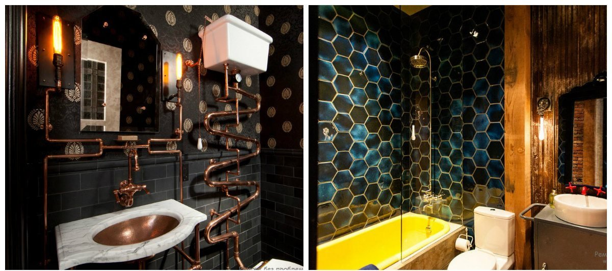 We suggest to get acquainted with steampunk bathroom decor ideas and be guided by our fashionable