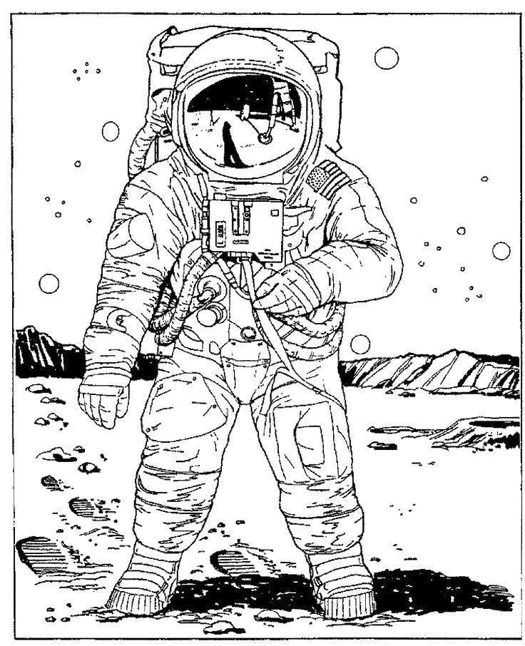 Картинки с космонавтом для срисовки