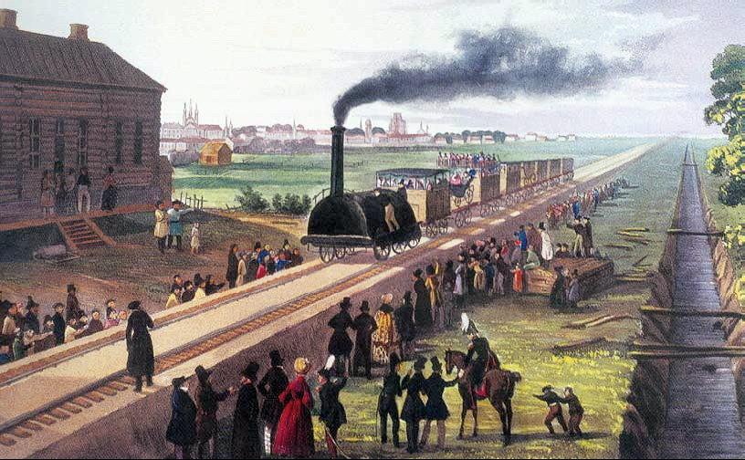 13 мая 1836 года началось строительство первой в России железной дороги по маршруту Петербург - Царское Село - Павловск