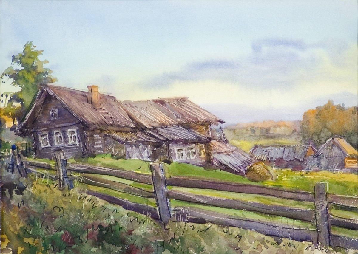 картинки к стихотворению деревня