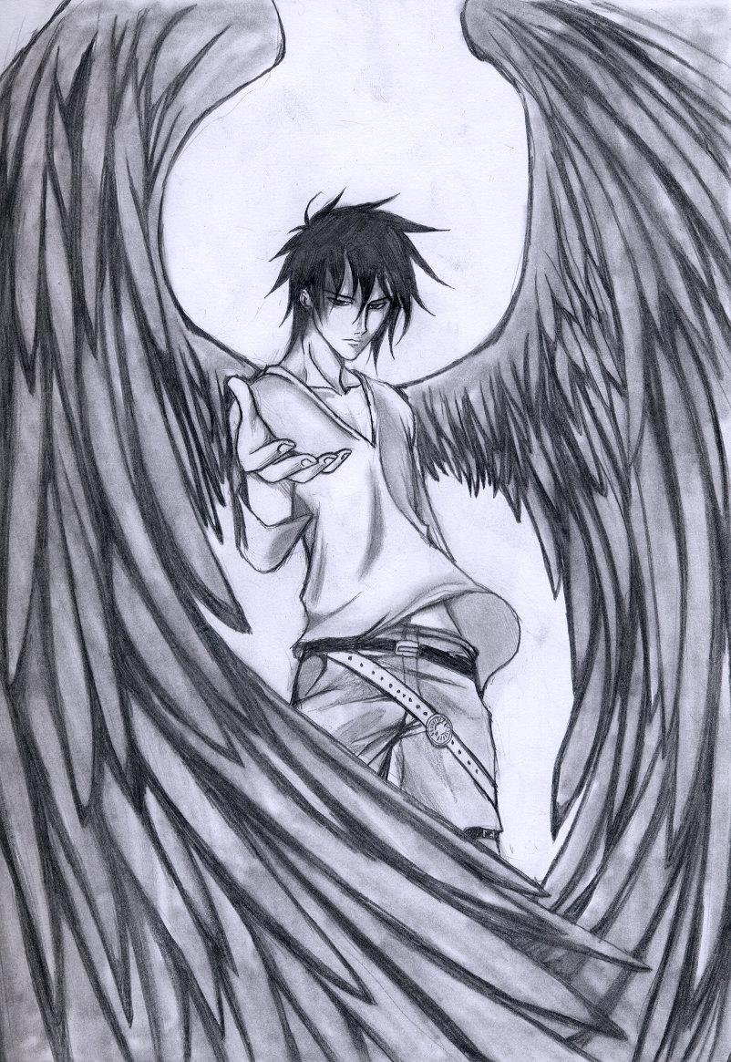Картинки демонов аниме карандашом для