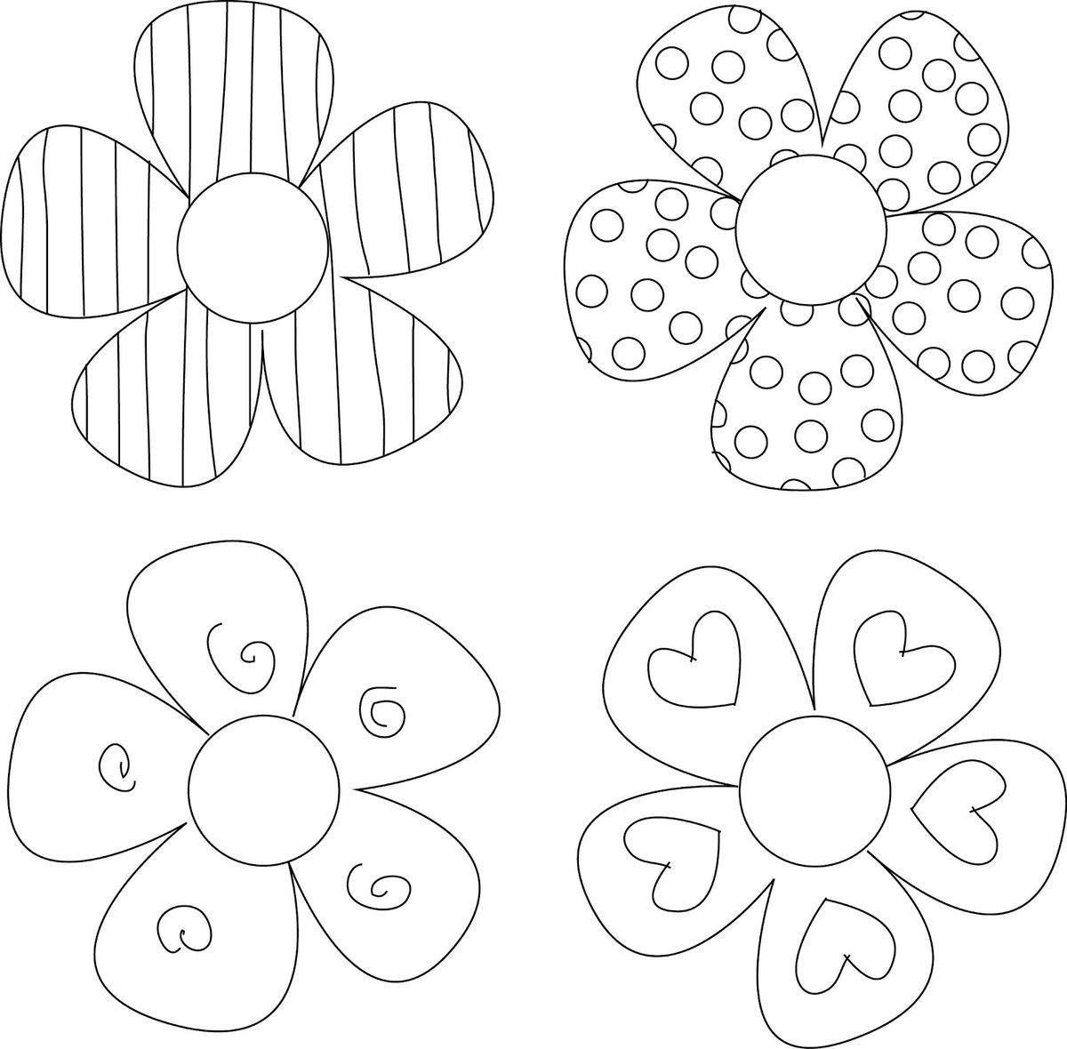 Тему, цветы для открытки распечатать