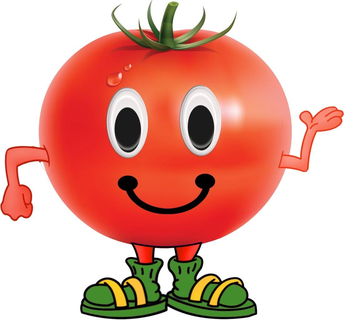 Веселые овощи и фрукты в картинках