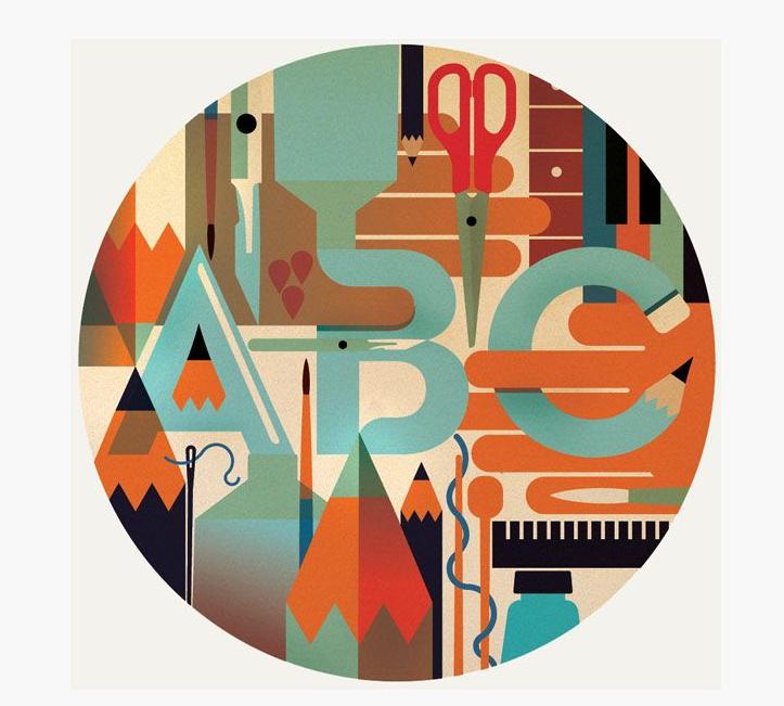 композиция плаката дизайн ателье ааа классика