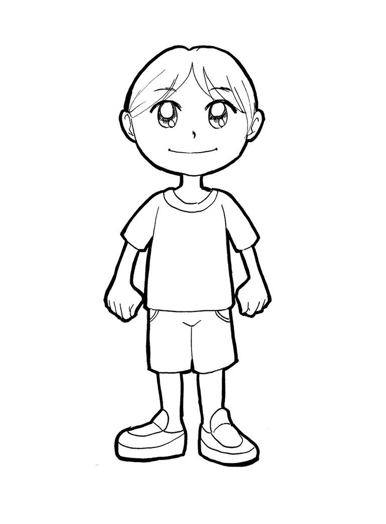 Рисунок карандашом смешной мальчик