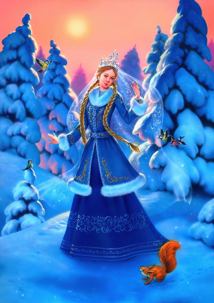 Красивая снегурочка картинка для детей