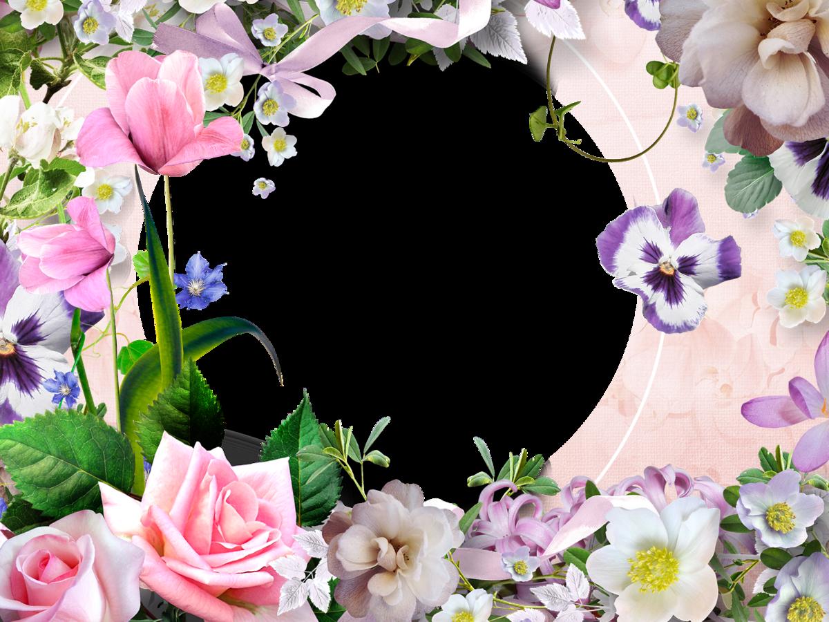Открытки рамка из цветов, хорошего