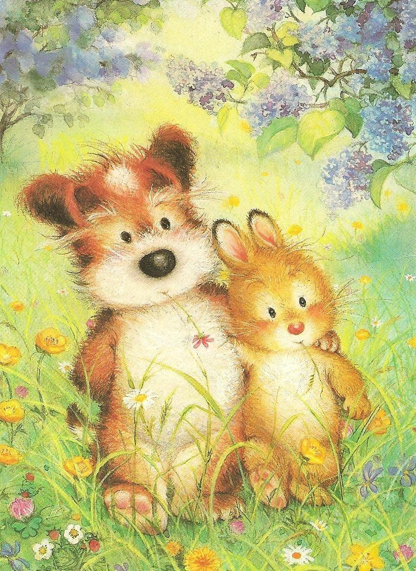 Картинки, открытки для друзей детские