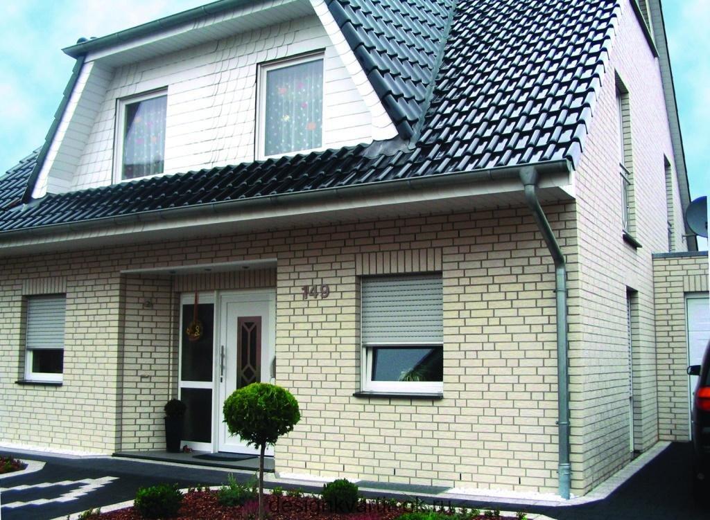 белый фасадный кирпич для облицовки