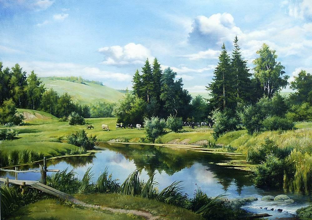Картинки летних пейзажей русских художников
