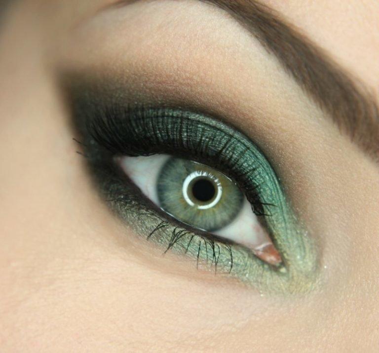 картинки макияжа серо зеленых глаз знаменитых