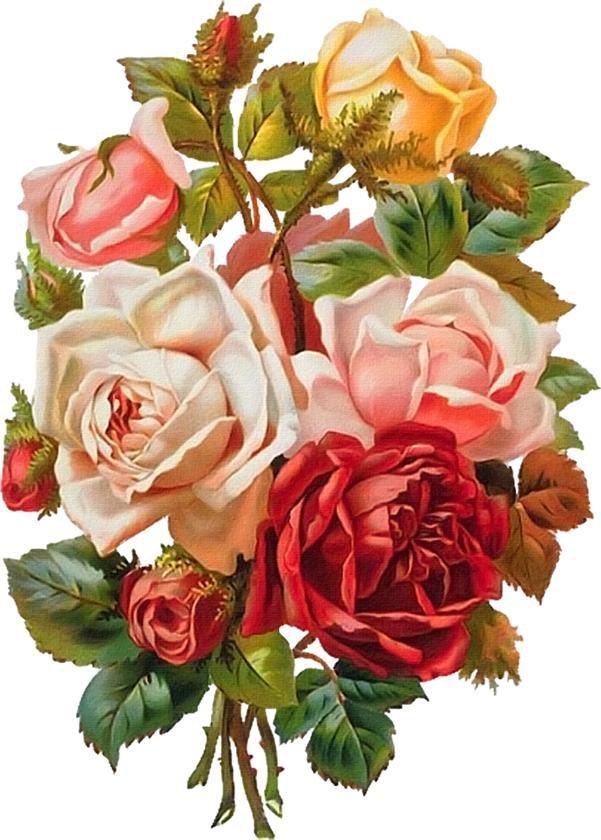 Ретро картинки розы, картинки про