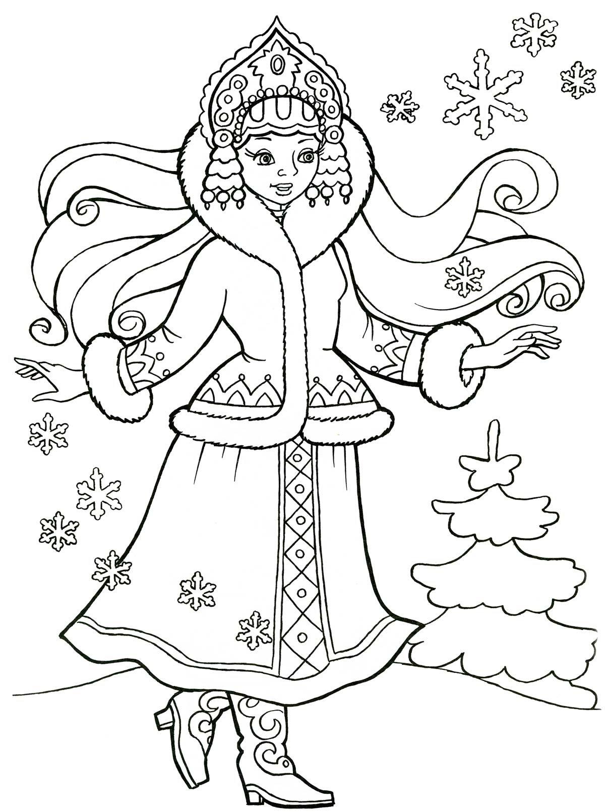 Картинки деда мороза и снегурочки для детей черно белые распечатать, для выписки роддома