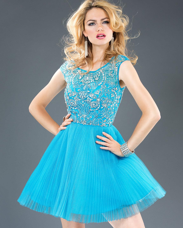 Голубые платья в картинках