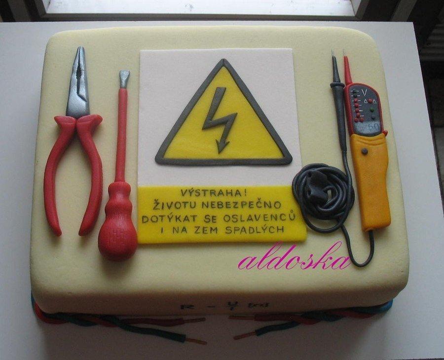 Открытка с днем рождения электрику