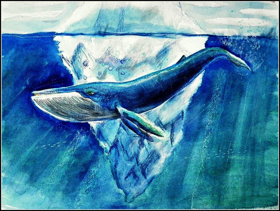 Картинки с рисованным китом