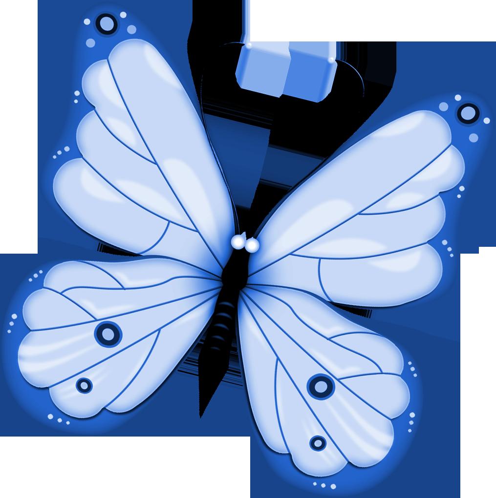 Бабочка синяя картинка для детей