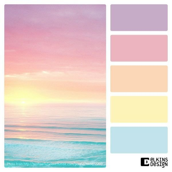 Lovely Fresh Spring Pastel Color Palette Beachdecor Art D Card