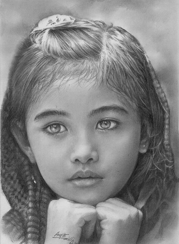 реалистичные рисунки простым карандашом кулисами фотосессии