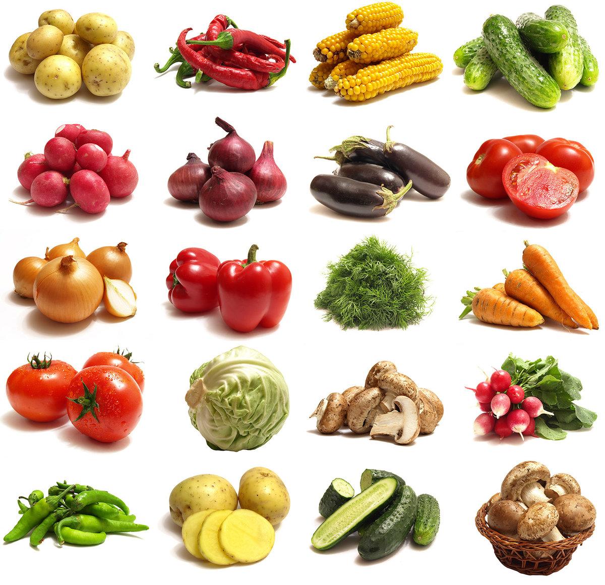 Цветные картинки с овощами для детей