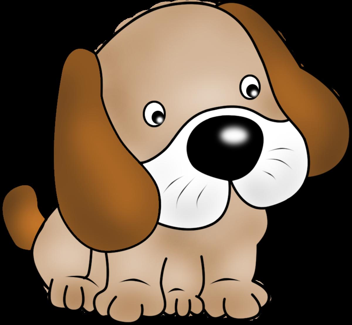 картинка для малышей собака нас