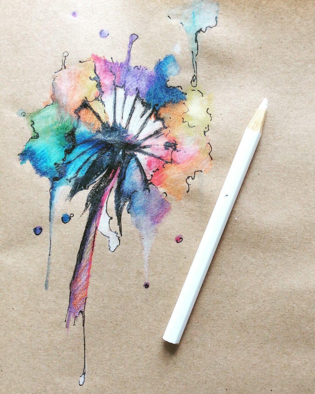 красивые картинки акварель карандашом зрелая телочка маске