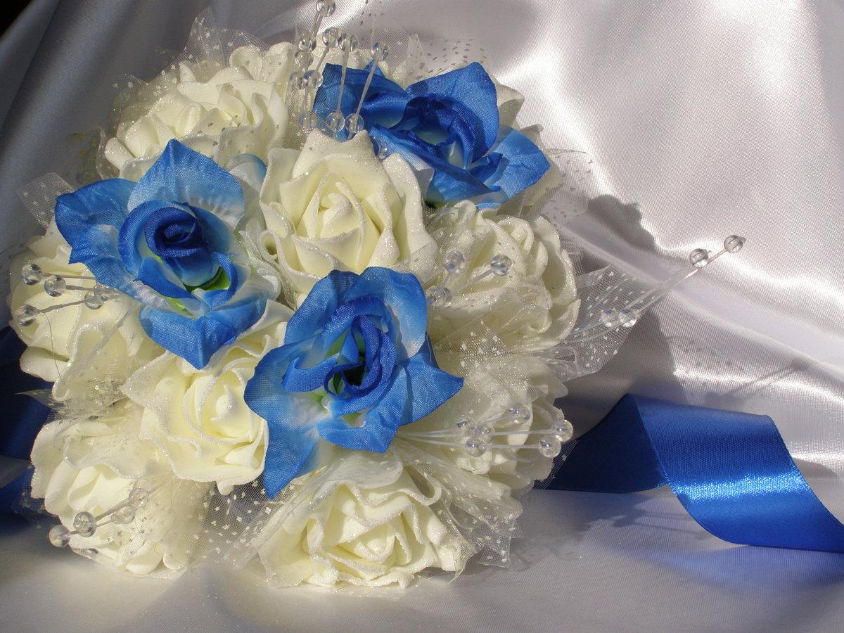 Букет на сапфировую свадьбу фото