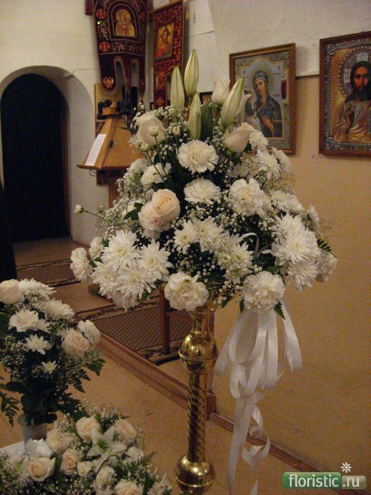 Цветочный букет для церкви спб, букетом роз фото