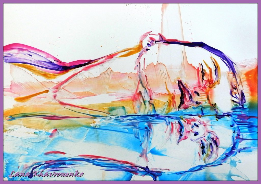 Картинка нарисованная карандашом и маслом