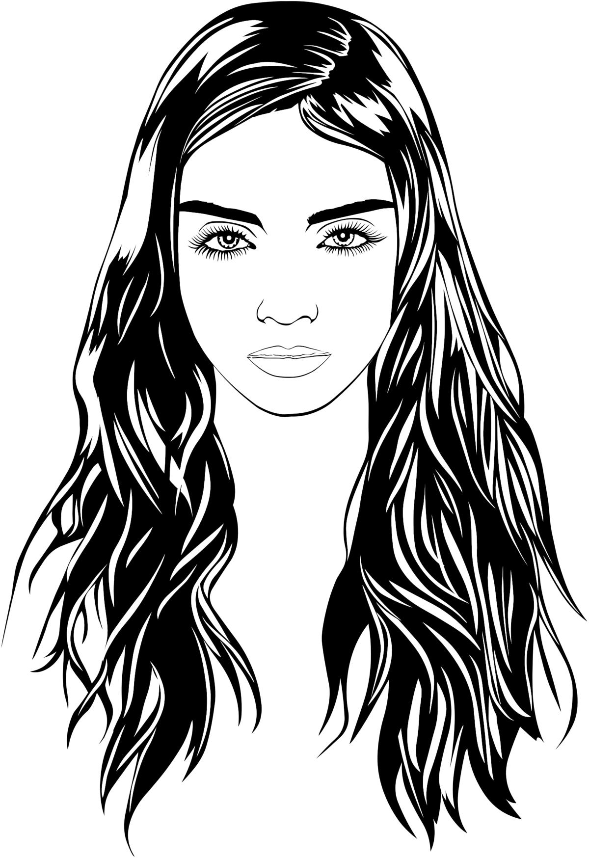 Портрет женщины раскраска