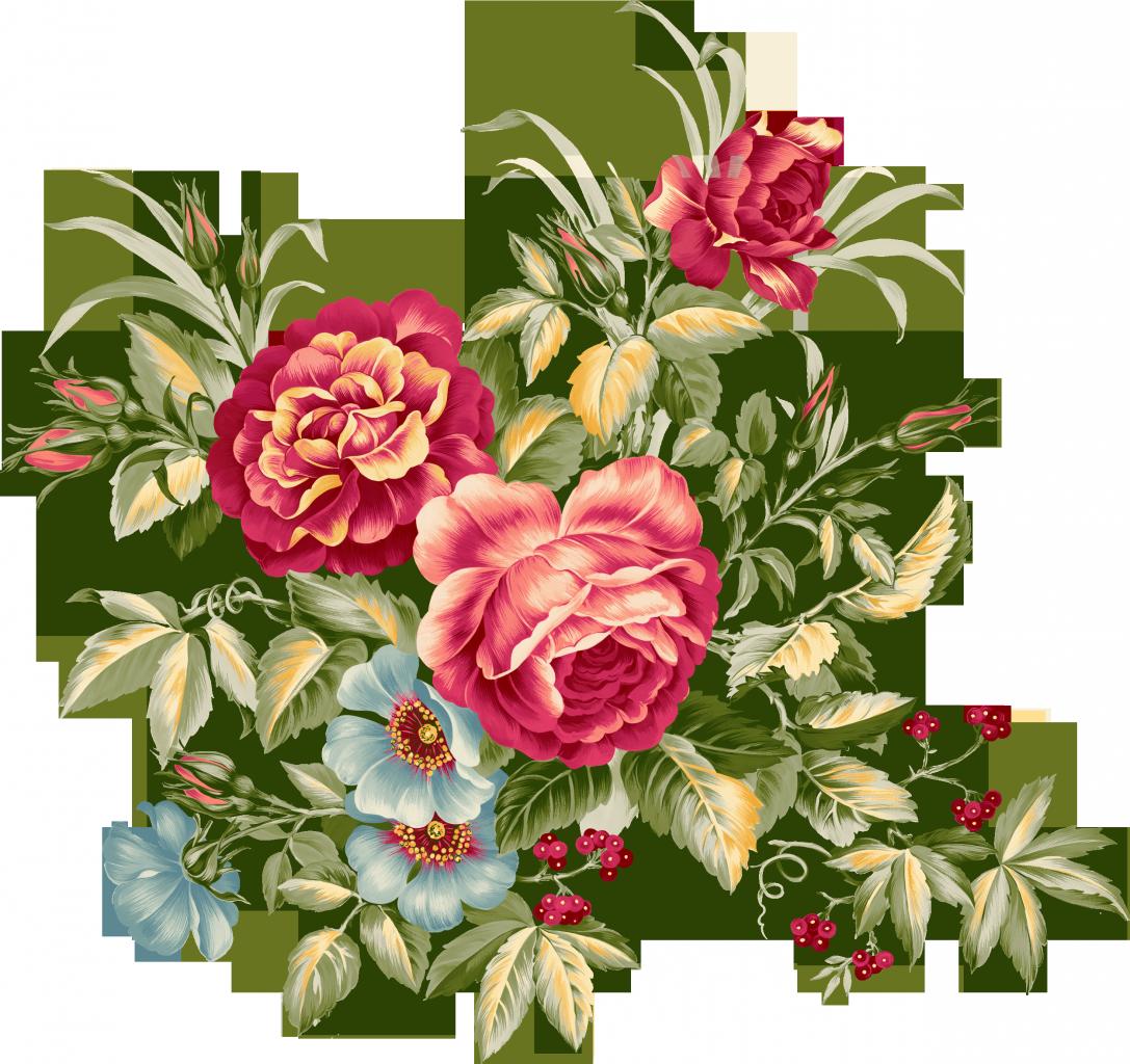 Смешные чистка, розы в векторе для открытки