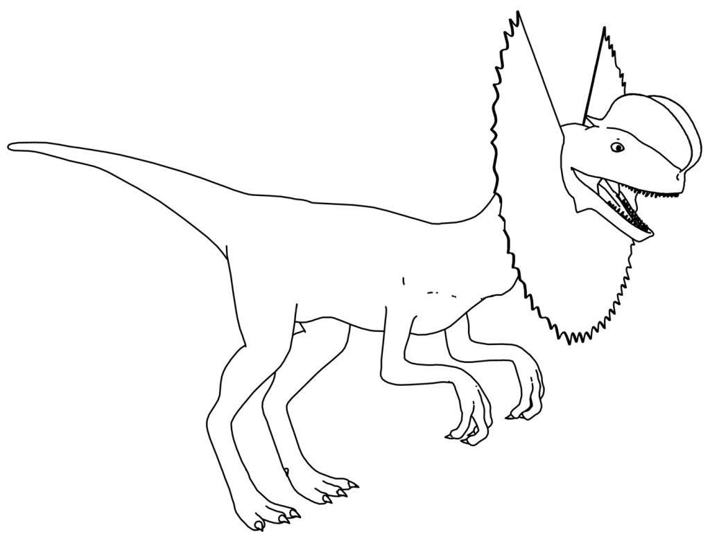 Dilophosaurus Dinosaur Coloring Page Wecoloringpage\