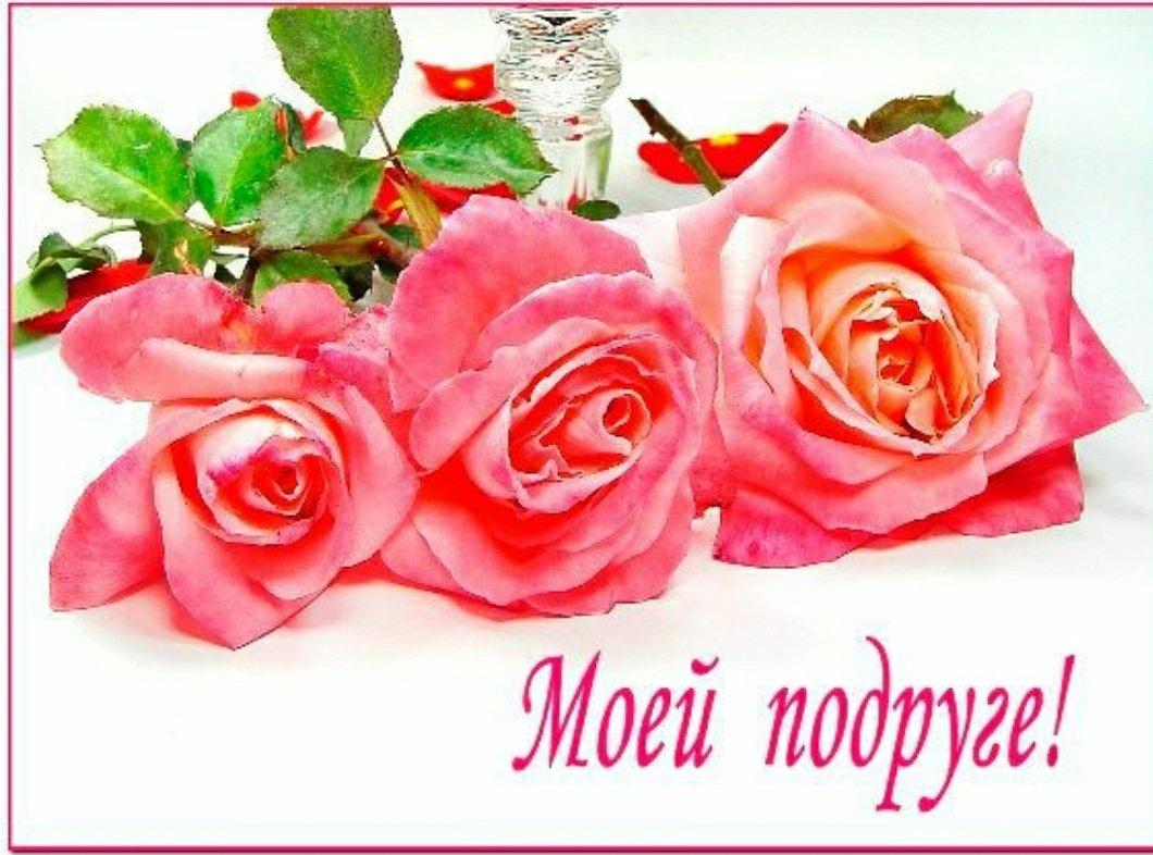 Цветы для любимой подружке открытки, днем