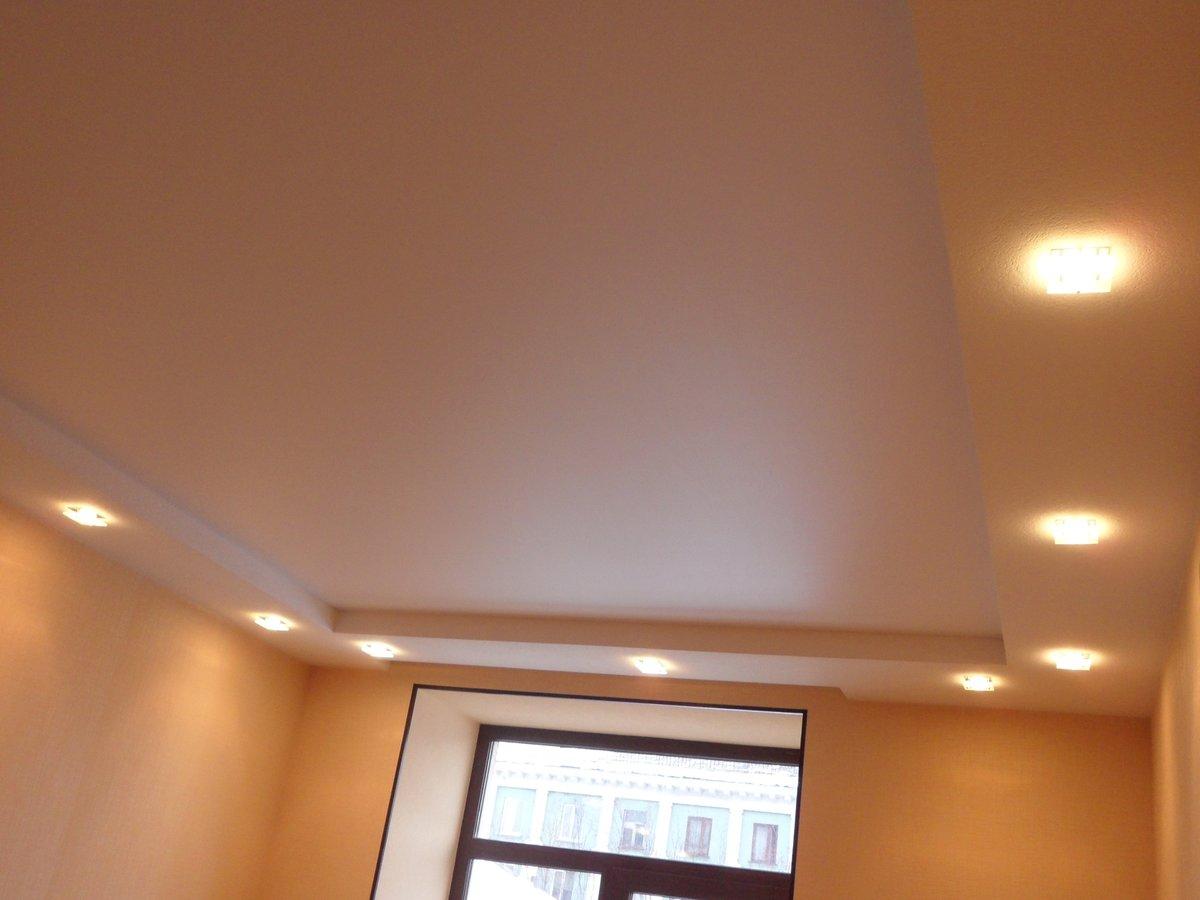 натяжной потолок без гипсокартона фото своем