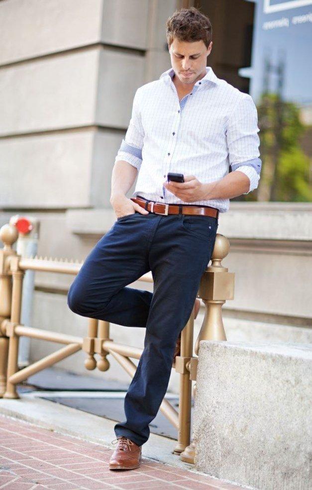 Под мужские джинсы какую рубашку одеть фото