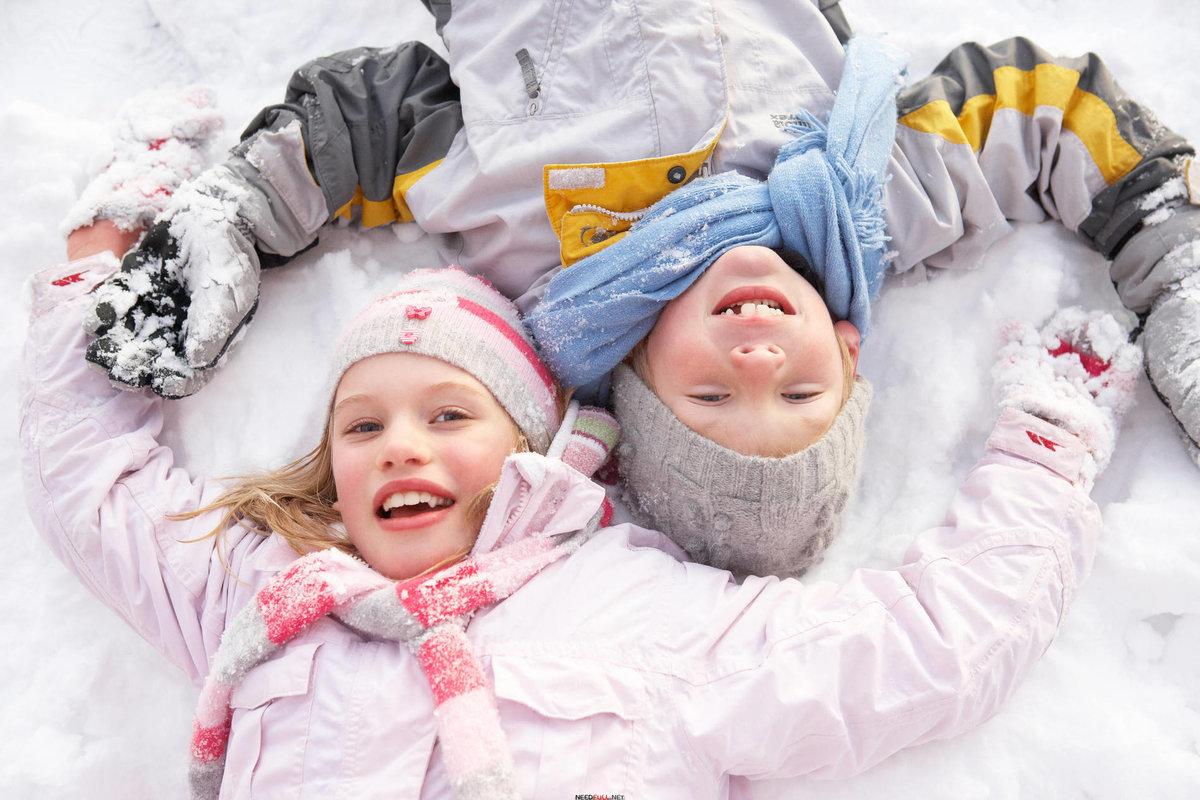 Зимняя картинка с ребенком, открытки
