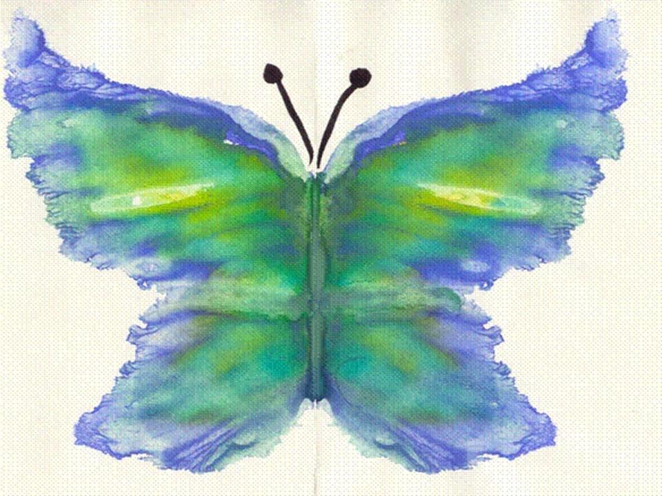 Монотипия картинки для детей 3 класса, цветами
