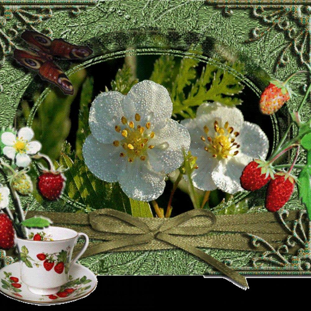 Для, открытка анимация цветы