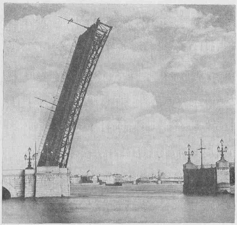 Кировский мост разведен...