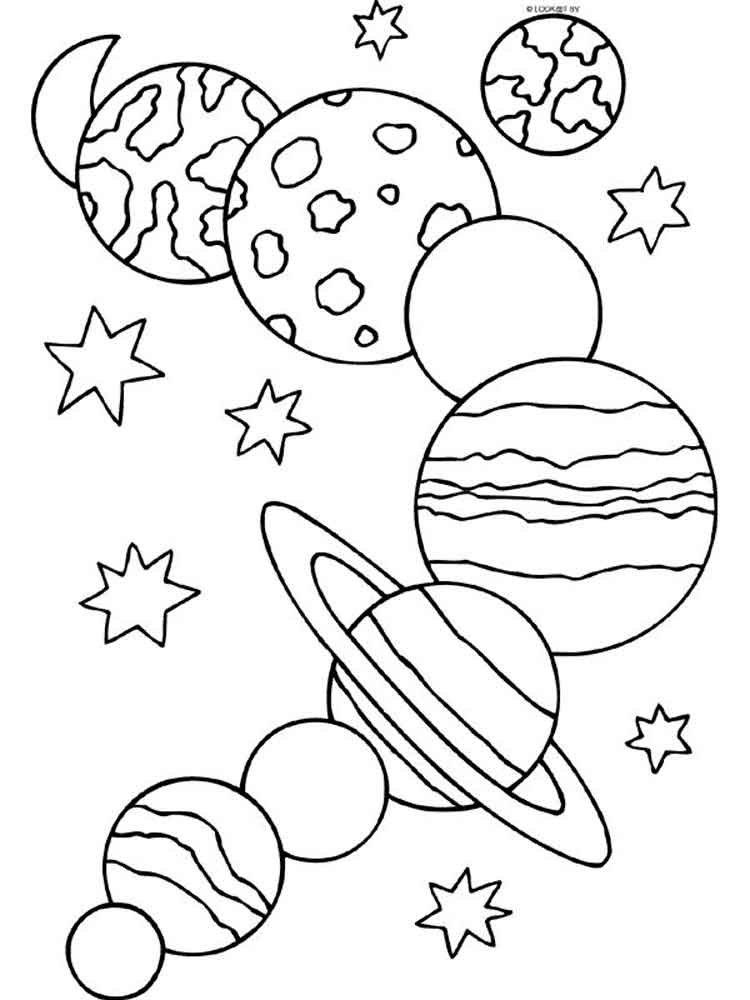 Черно белые картинки космос для детей