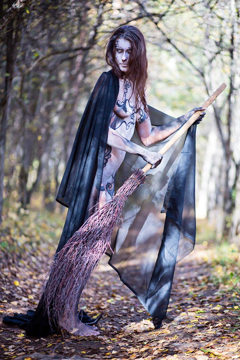 фотографии в образе ведьмы как большого