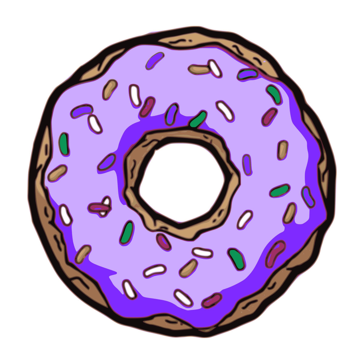 Красивые картинки, картинка с пончиком