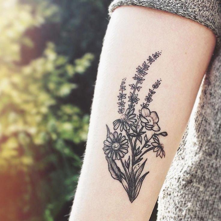 Тату цветы полевые фото