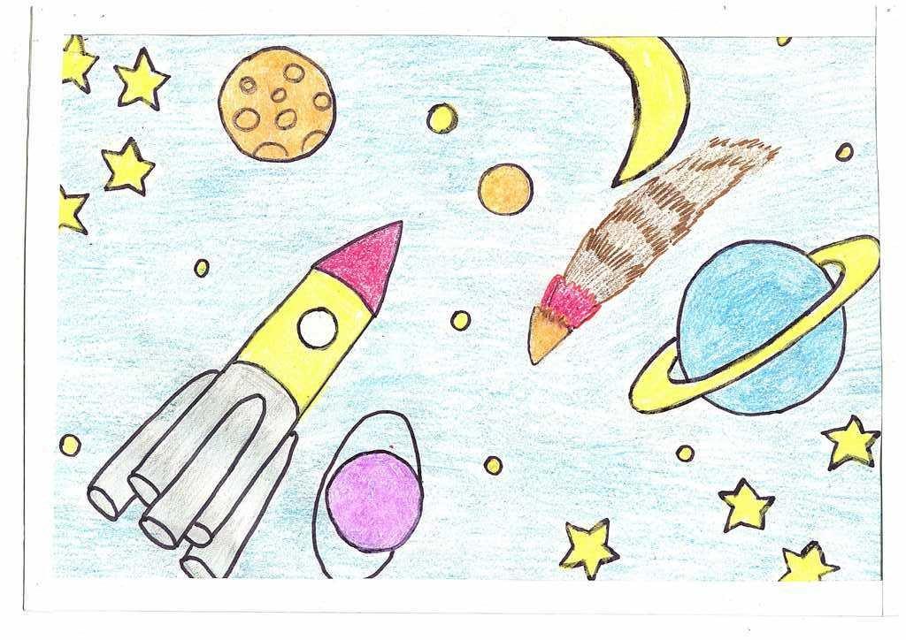 картинка о космосе в карандаше кто принял