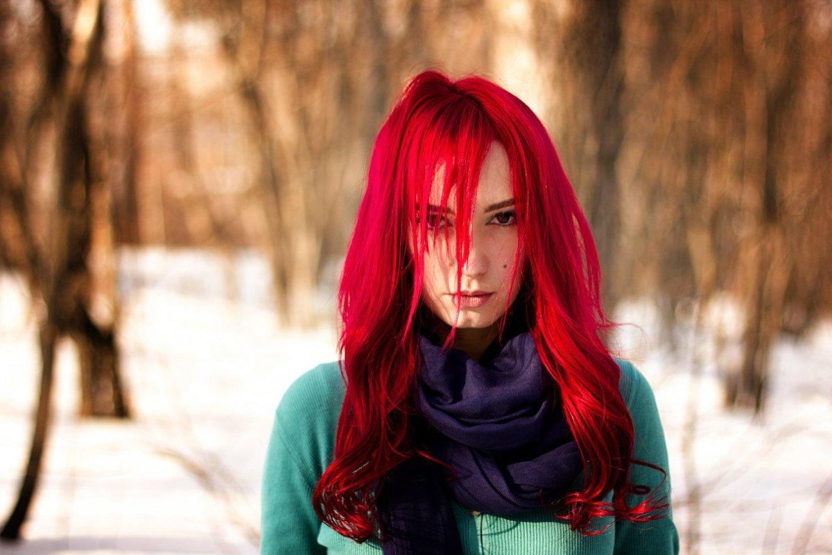Покрасить волосы красный цвет